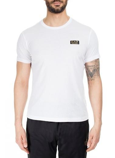 EA7 Emporio Armani  T Shirt Erkek T Shırt S 6Gpt05 Pjm9Z 1100 Beyaz
